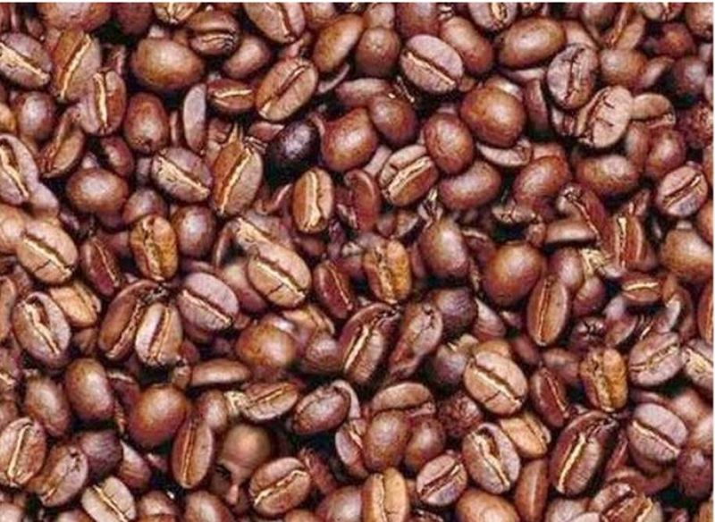 Coffee beans man